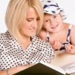 Mom and child reading — Stock Photo