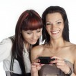 Stock Photo: Girls with phone