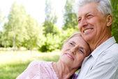 Söta gamla par — Stockfoto
