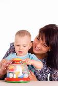 Juego de madre con niño — Foto de Stock