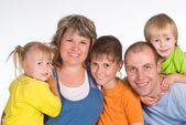Familia de cinco — Foto de Stock
