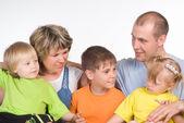 Nice family portrait — Stock Photo