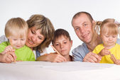 Nice family drawing — Stock Photo
