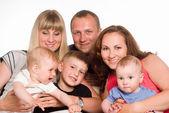 Familie van een zes — Stockfoto