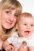 Schattig moeder en kind — Stockfoto