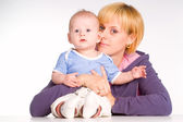 Mom with baby — Stock Photo