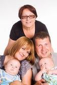 Leuke familie portret — Stockfoto