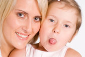 Retrato de madre e hija — Foto de Stock