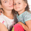 Mom with daughter — Stockfoto