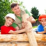 Good family constructing — Stock Photo