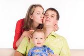 Pretty family portrait — Stock Photo