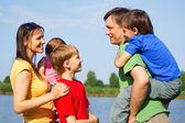 Family at nature — Stock Photo