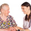 Royalty-Free Stock Photo: Nurse with old patient