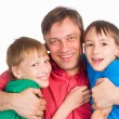 Dad with sons — Stock Photo