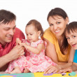 Family of a five playing — Stock Photo #6352582