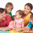 Family of a five playing — Stock Photo