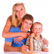 Cute family drawing — Stock Photo #6353840
