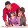 Royalty-Free Stock Photo: Nice family playing