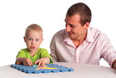 Dad and son play — Stock Photo