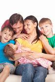 Familie van een vijf — Stockfoto