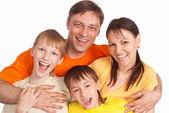 Famille sur blanc — Photo