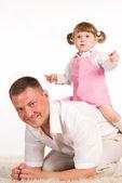 Baba ile kızı — Stok fotoğraf