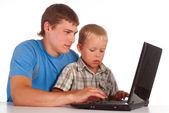 Baba ile oğul oyun — Stok fotoğraf