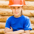 Little worker portrait — Stock Photo