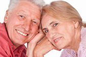 Old couple portrait — Stock Photo