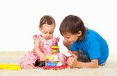 Juego de niños lindos — Foto de Stock