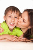 Son with mom — Stock Photo