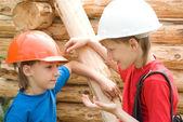 Trabajo de los jóvenes trabajadores — Foto de Stock