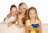 Kids play game — Fotografia Stock