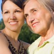 Adult daughter with mom — Stock Photo #6457329