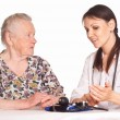 Nurse and granny — Stock Photo