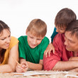 Cute family drawing — Stock Photo #6496260