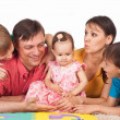 Family on a carpet — Stock Photo #6496277