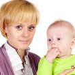Mom and a baby — Stock Photo #6496332