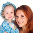 Stock Photo: Mom and daughter portrait