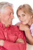 Trevligt äldre par — Stockfoto