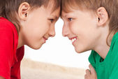 Two boys playing — Stock Photo