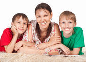 Mom and sons — Stock Photo