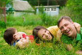 Family at nature — Stock Photo