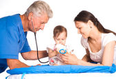 Family and doctor — Stock Photo