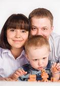 Family of three — Stock Photo