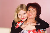 Mom with adult daughter portrait — Stock Photo