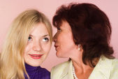 Daughter with mom — Stock fotografie