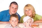 Cute family portrait — Stock Photo