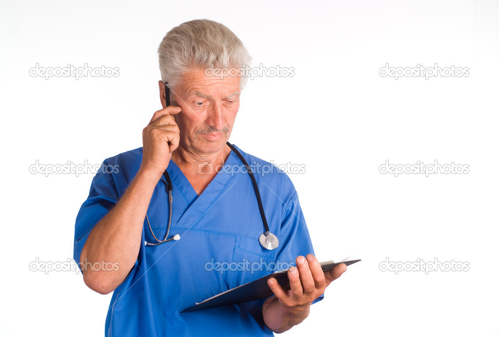 Portrait of a doctor with a pen — Stock Photo #6496540