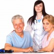 Royalty-Free Stock Photo: Nurse and family smiling